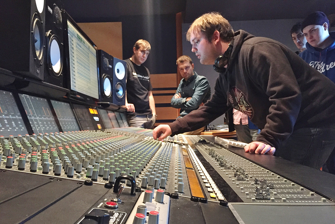 UCW music degree students, Pop music and production
