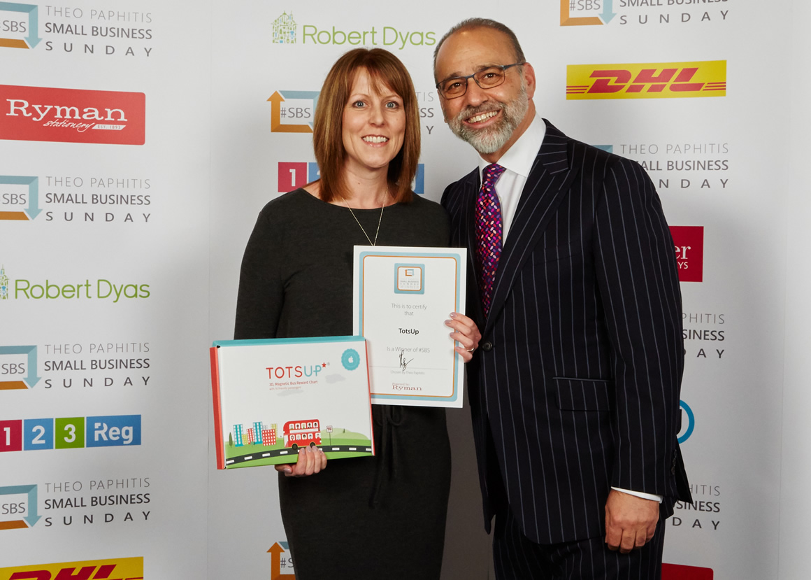 UCW lecturer Sally Marks and Theo Paphitis