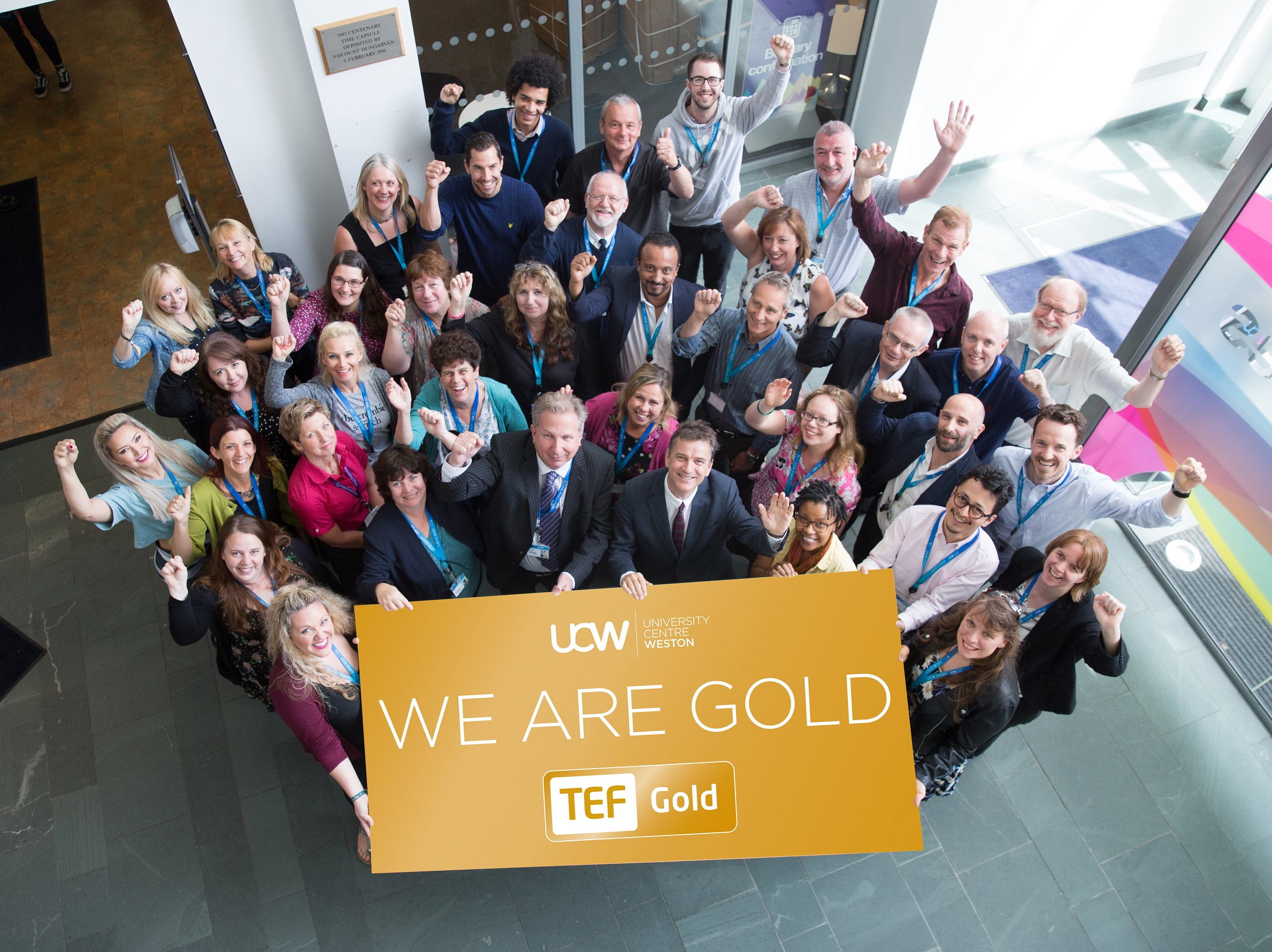 UCW gets Gold for quality of teaching