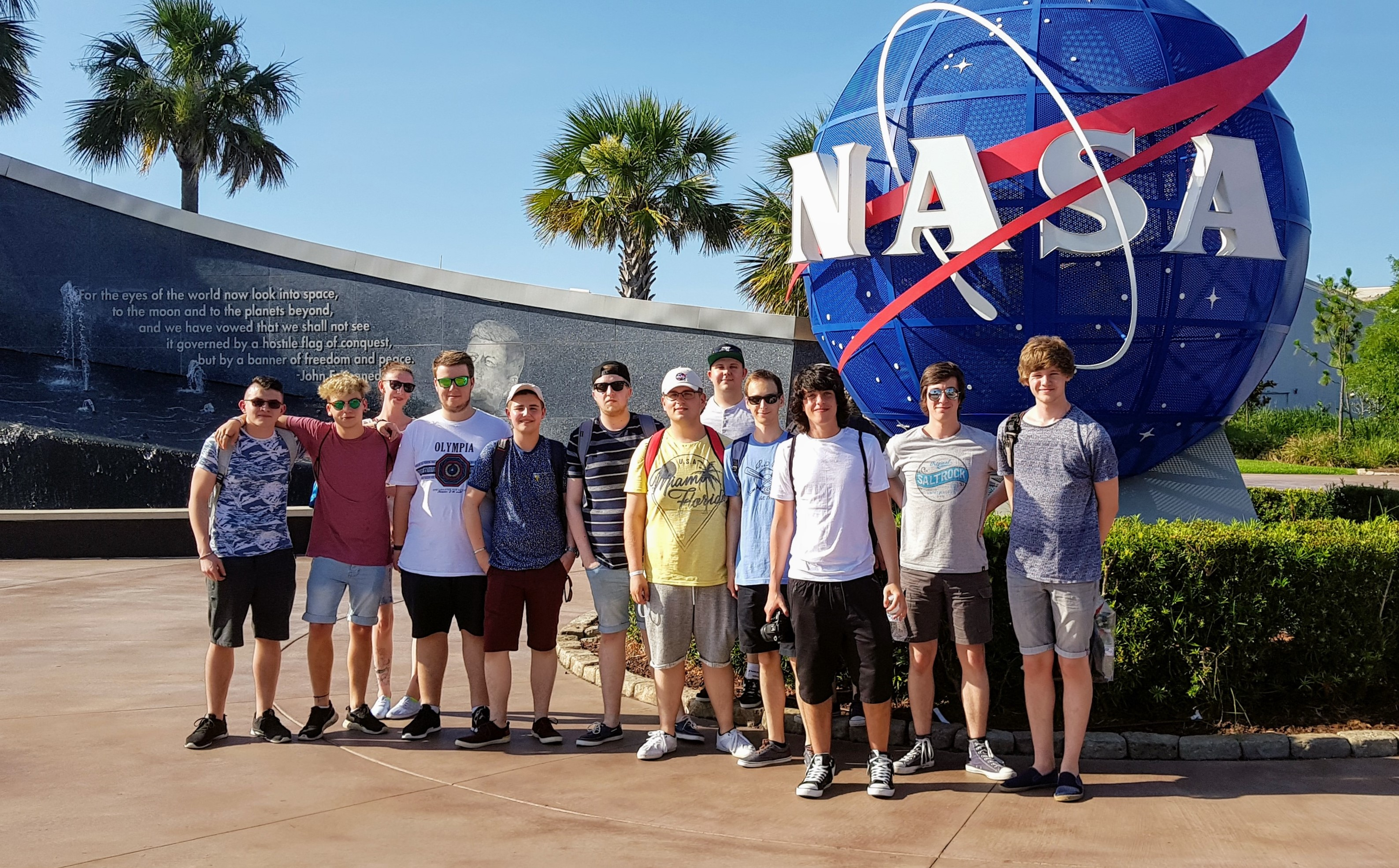 UCW Applied Computing, Digital and Technology Solutions degree students tour NASA Space Centre Florida USA